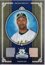 JERMAINE DYE 2005 Donruss DIAMOND KINGS Used JERSEY BAT Card #d /100 OAKLAND A's
