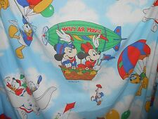 Vintage Mickey Air Mobile Minnie Disney Twin Sheet Set Flat Fitted & Pillowcase