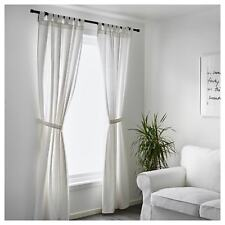 100% Cotton Ikea White Curtains Living Room Bedroom Window Sheer Blind 250x140cm