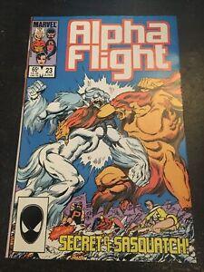 Alpha Flight#23 Incredible Condition 9.4(1985) Sasquatch Vs Sasquatch,Byrne Art