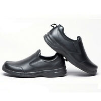 Men's kitchen leather chef shoes non-slip shoes safety shoe polish waterproof