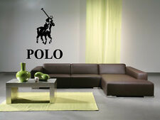 Game to Ride Horses While Using Long British Polo Clubs Wall Decal Sticker 3621