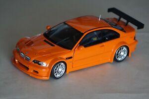 1:18 Minichamps BMW M3 GTR Street 2001 orange neuwertig mit OVP 100012106