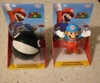 World of Nintendo Super Mario 2.5-inch Mini Figure Ice Mario & Chain Chomp