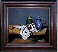 Framed, Paul Cezanne Still Life Kettle Repro, Hand Painted Oil Painting 20x24in
