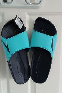 Speedo blue/Navy sliders Atami 11 water repellent beach shoes size UK 10