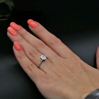 Certified Oval Shape 1.50 Ct Diamond Solitaire Engagement Ring 14K White Gold