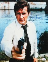 """ROGER MOORE SIGNED 11X14 """"LIVE AND LET DIE"""" JAMES BOND PROMO PHOTO w/PSA/DNA COA"""