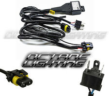 2-Headlight H4/9003 HID Headlamp Light Bulb Socket Plug Relay Wiring Harness Kit
