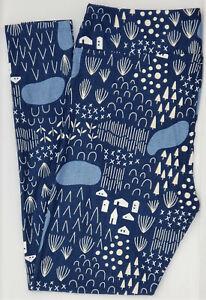 Lularoe Tween Leggings  Trees Lakes Houses Blue NWT
