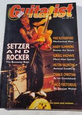 Guitarist guitar magazine June 1989 Brian Setzer Mike Rutherford Andy Summers