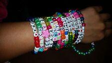 20 Kandi Bracelets - 10 Custom & 10 Random - EDM RAVE KANDI PLUR