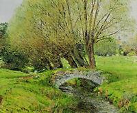 Französisch ? - Brücke über einen Bach im Grünen
