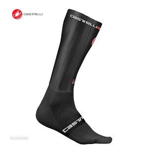 Castelli FAST FEET Tall Cuff Aero Cycling Socks : BLACK One Pair