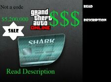 GTA 5 ONLINE SHARK CARD $5.2 MILLION Service (PS4 Only)