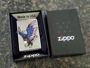 Zippo Eagle Flag 28449 Zippo New in Original Box..American Eagle..2013