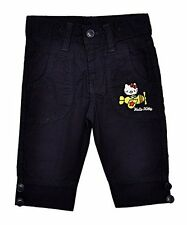 Girl's Official Hello Kitty Applique Bright Capri Cotton Pants Sizes from 2 to 6