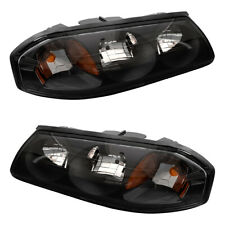 Pair Set Headlights Headlamps Lens Housing Assembly for 2004-2005 Chevy Impala