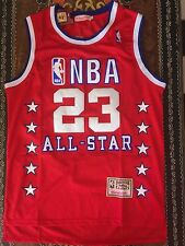 VINTAGE MITCHELL & NESS MICHAEL JORDAN NBA ALL-STAR JERSEY RED SIZE 44 LARGE L