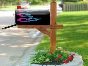 Hot Rod Mailbox Flame decal set - No. 8 Slash Flames - Watermelon/Blueberry 8pcs