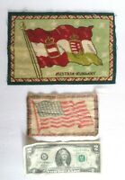 Vintage American Flag & Austria-Hungary Flag Tobacco Felts