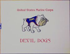 UNITED STATES MARINE CORPS DEVIL DOGS SILK-SCREEN poster DISCOUNTED