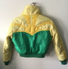 VTG 80's Gerry Outdoor sunset Yellow Green Cropped puffer Down jacket size S