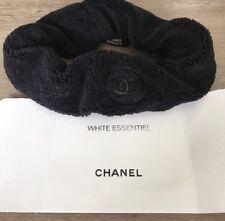 Chanel VIP Headband Velour Terry Cloth NIB Black