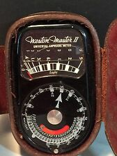 Vintage Weston Light Meter Model 735 With Storage Case Collectible
