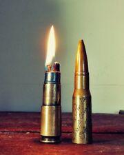 VTG WW2 Trench Art Bullet Lighter 709 Airlift Bombardment Squad Engraved Purdue