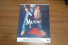 CAROLINE MUNRO JOE SPINELL MANIAC PSYCHOTRONIC FILM 1980 SYNOPSIS ORIGINAL VHS
