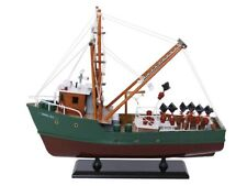 """NEW Wooden Model Ship A Perfect Storm Andrea Gail Movie Replica Fishing Boat 16"""""""