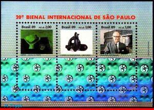 2210 BRAZIL 1989 20th INTL. ART BIENNIAL, HOLOGRAM, ART, MI# B80 RHM B-82, MNH