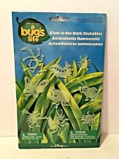DISNEY PIXAR A BUG'S LIFE GLOW IN THE DARK STICKABLES 1998