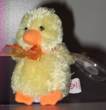 "Ty Basket Beanie Baby - BILLINGSLY the Duck (3.5"") - Easter ~MWMT's Easter Plush"