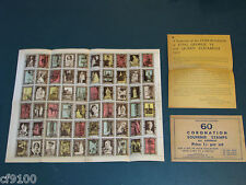 1937 Great Britain King George VI Eliz Coronation 60 Stamp Sheet w/ Env & Insert