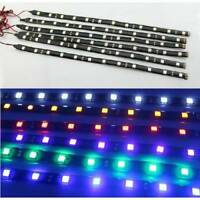 2/6pcs Waterproof 30cm 15SMD 3528 LED Car Truck Motors Flexible Strip Light