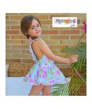 PDF DIGITAL PATTERN+Youtube TUTORIAL sew PLAYSUIT SKIRT Baby Babies Girls 1-10Y