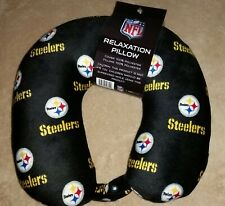 NWT Pittsburgh Steelers Print NFL Foam Relaxation Neck Pillow Football Snap Neck