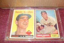 "LOT of SEVEN (7) ""Original"" ""SANDY KOUFAX""/JIM BUNNING Baseball CARDS"