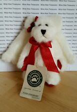 Boyds Bears Faith Angelbeary White Jointed Stuffed Bear Wings Ornament #56240