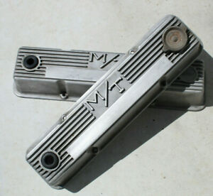 Vintage MICKEY THOMPSON cHeVy Valve Covers 1959-86 sbc V8 Hot Rod muscle car old