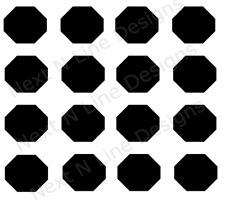 Octagon Pattern Stencil, Octagon, Wall Stencil ,Mylar Stencil, Reusable, Paint