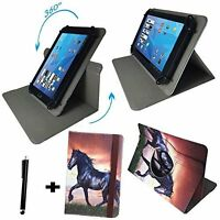 Case Tablet PC Schutzhülle Odys Pace 10 Tasche - Pferd 10.1 Zoll 360°