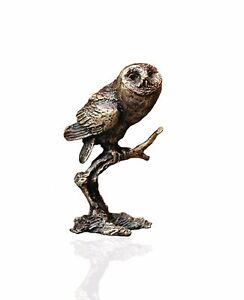 Bird Bronze Miniature Sculpture - Tawny Owl - Butler & Peach.