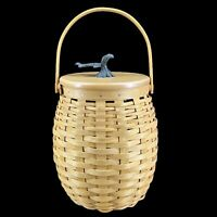 "2000 LONGABERGER Pumpkin Patch Basket W/Protector & Lid Exc Cond 10"" Tall"