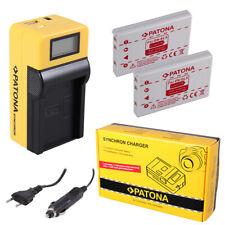2x Batteria Patona + caricabatteria Synchron LCD USB per Nikon CoolPix P5100