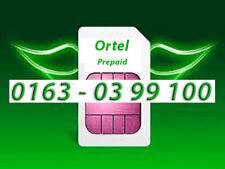 Ortel Mobile Prepaid Karte NEU --> [0163] 03 99 100 | Rufnummer
