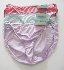 fc7c4bdd26a0 Vanity Fair XL 8 String Bikini Illumination 18108 Pink Briar Rose Nylon  Panties