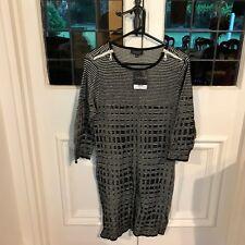 Topshop black & white winter dress RRP GBP 44 - Euro size 42 US 10 UK